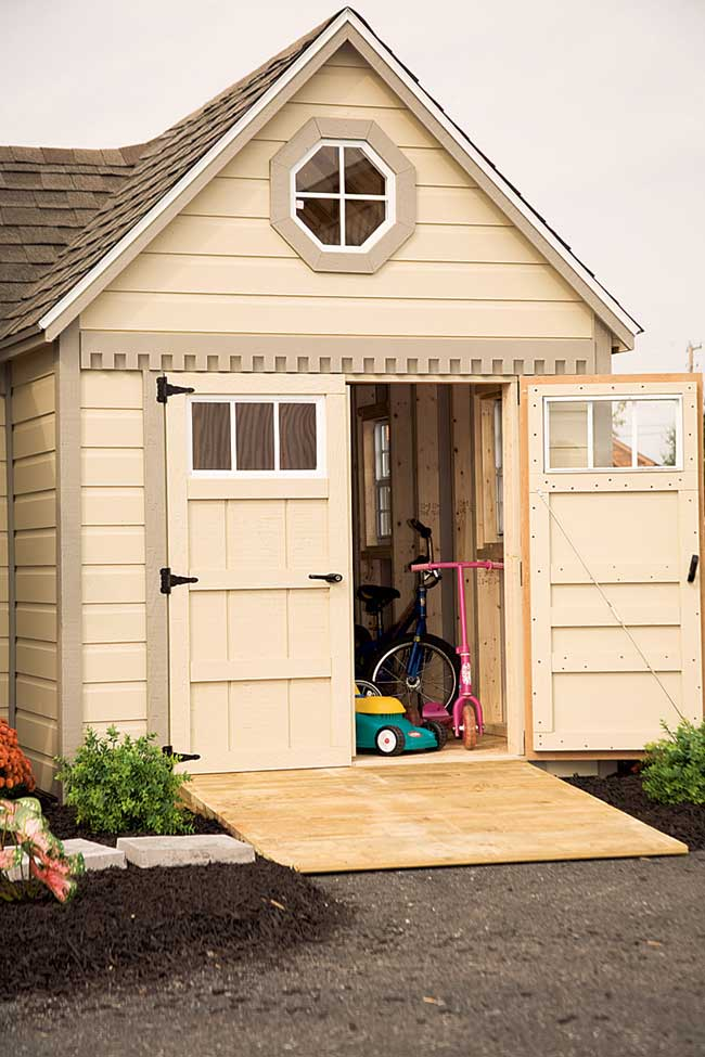 Mr shed playhouses for Wooden playhouse with garage