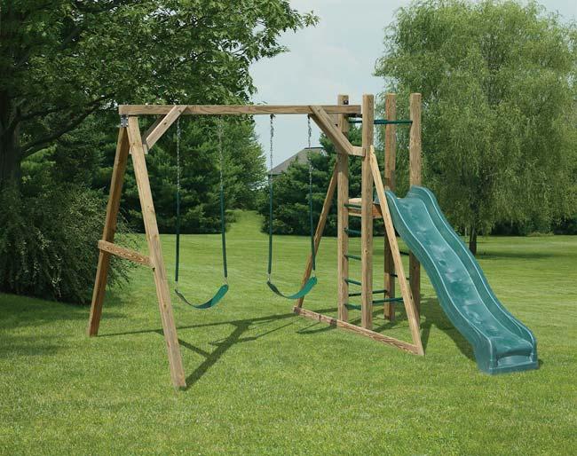 Mr Shed Wood Swing Sets
